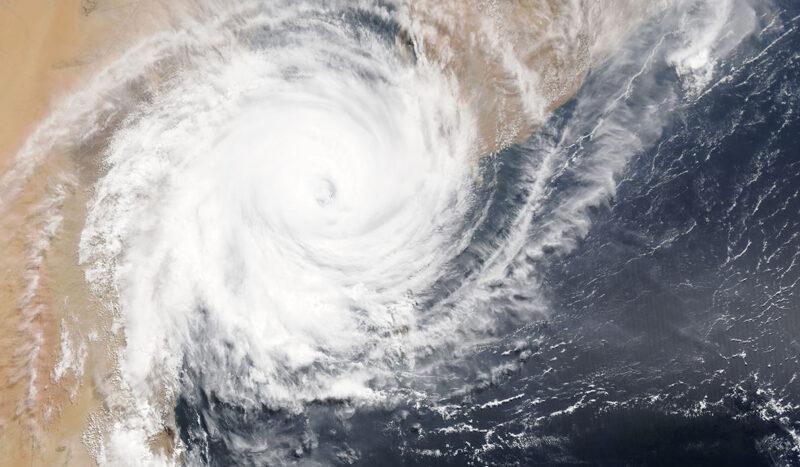 Hurricane image courtesy of NASA